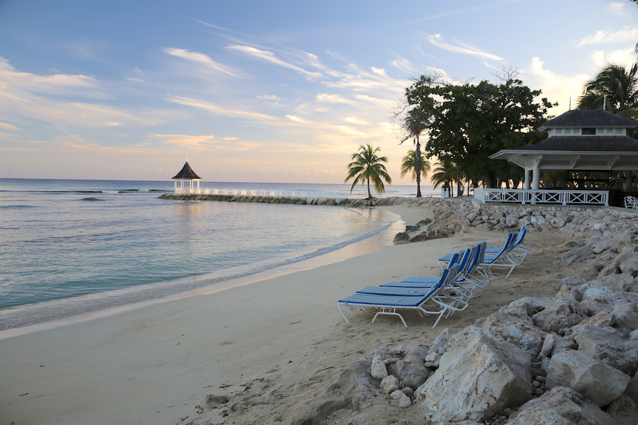 Sunset at Half Moon Resort in Jamaica