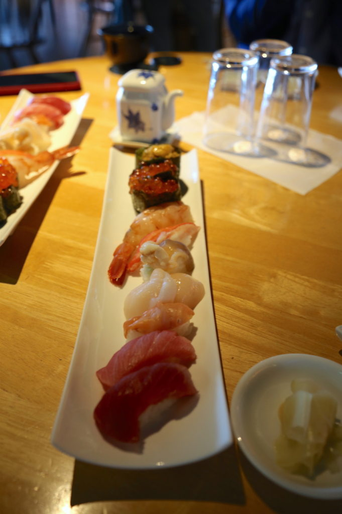 Fresh sushi in Aomori Japan