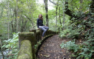 Annette White at Oirase Gorge in Aomori Japan in the Tohoku prefecture