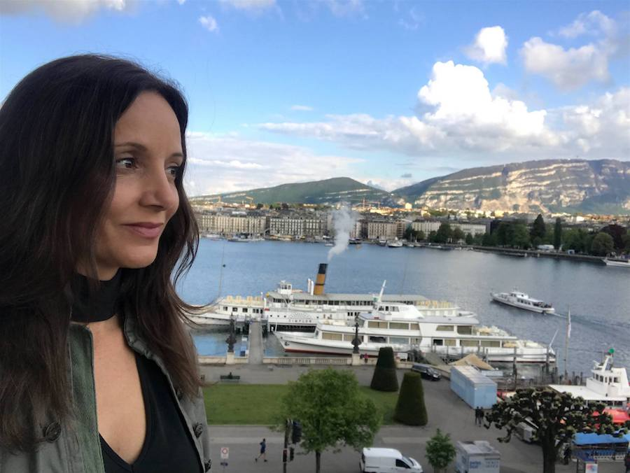 Annette White in Geneva, Switzerland