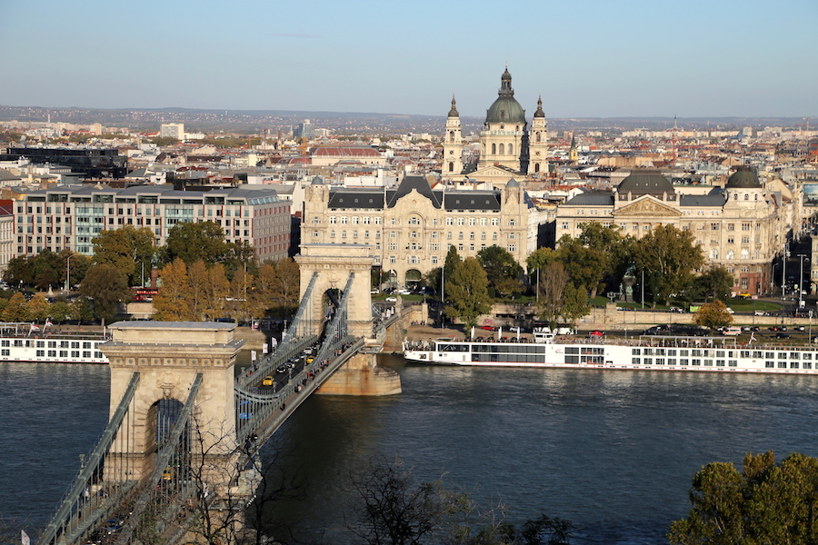 Viking European River Cruise Port: The view of Budapest from Buda Castle in Hungary