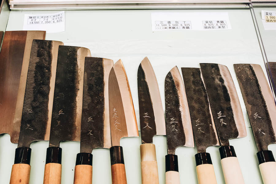Buying a Japanese knife in Tokyo