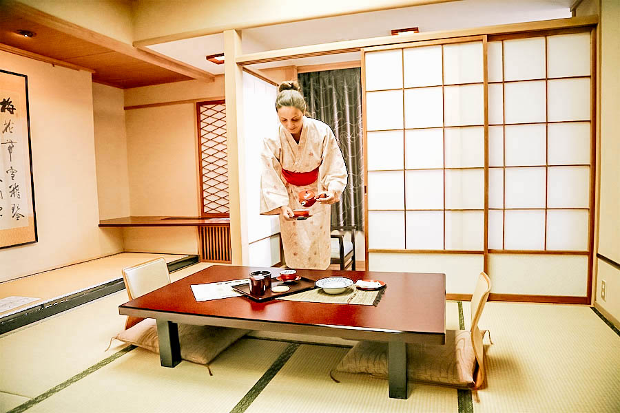 Annette White at a Japanese ryokan Inn