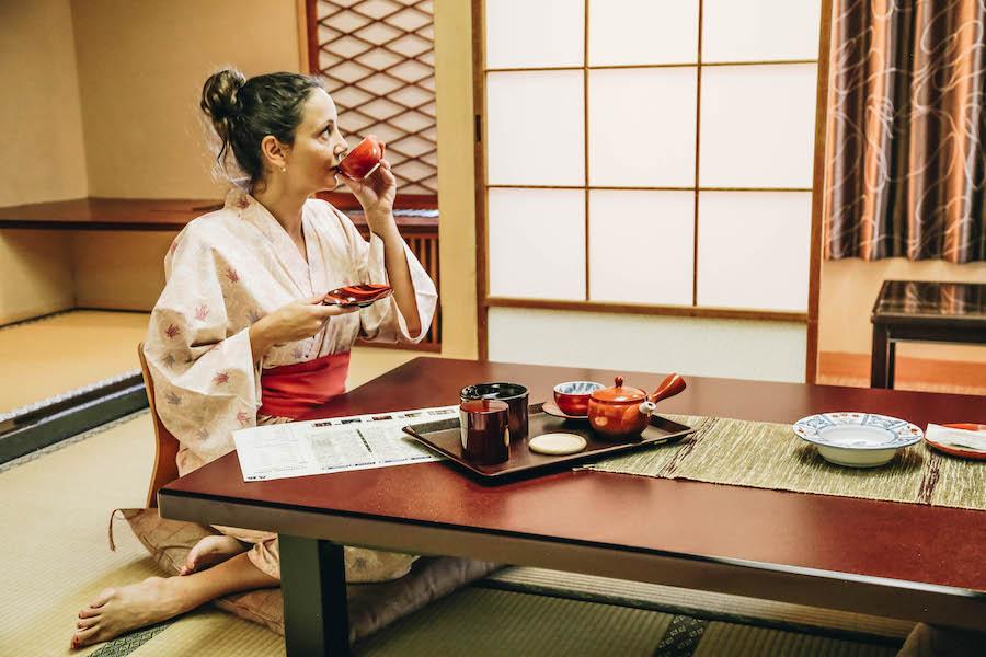 Annette White at a Japanese ryokan Inn