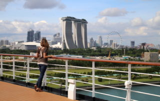 View of the Marina Bay Sands Hotel