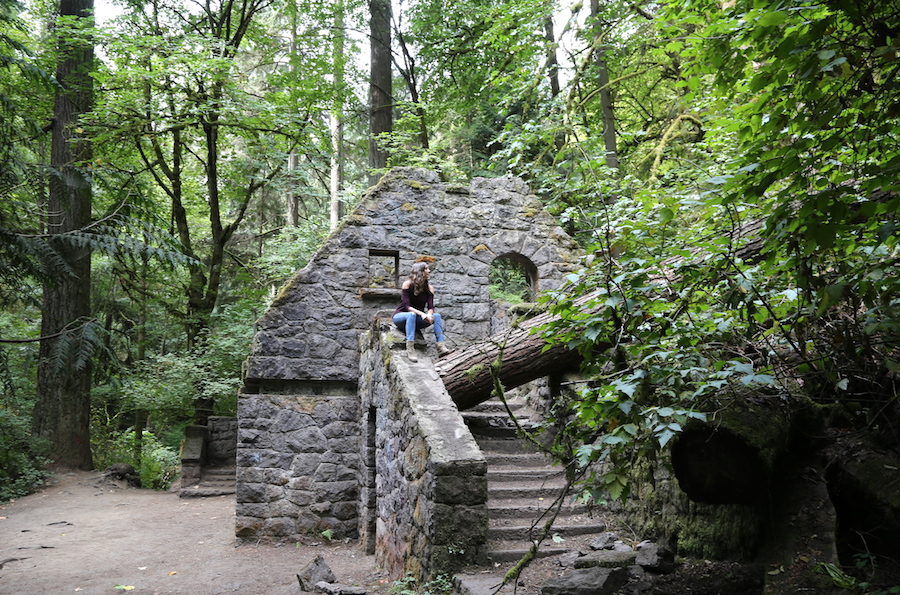 Portland, Oregon Things to do: The Witches Castle at Forest Park