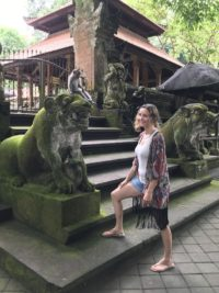 Bali Cruise Points of Interest: Annette White at the Monkey Forest