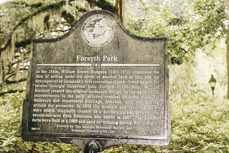 Savannah's Forsyth Park in Historic Downtown