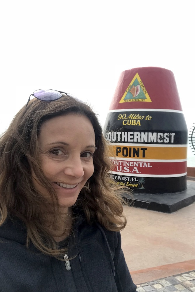 Annette at the Southern Most Point | Florida Keys Islands Bucket List: Best Things to do in Key West & Beyond