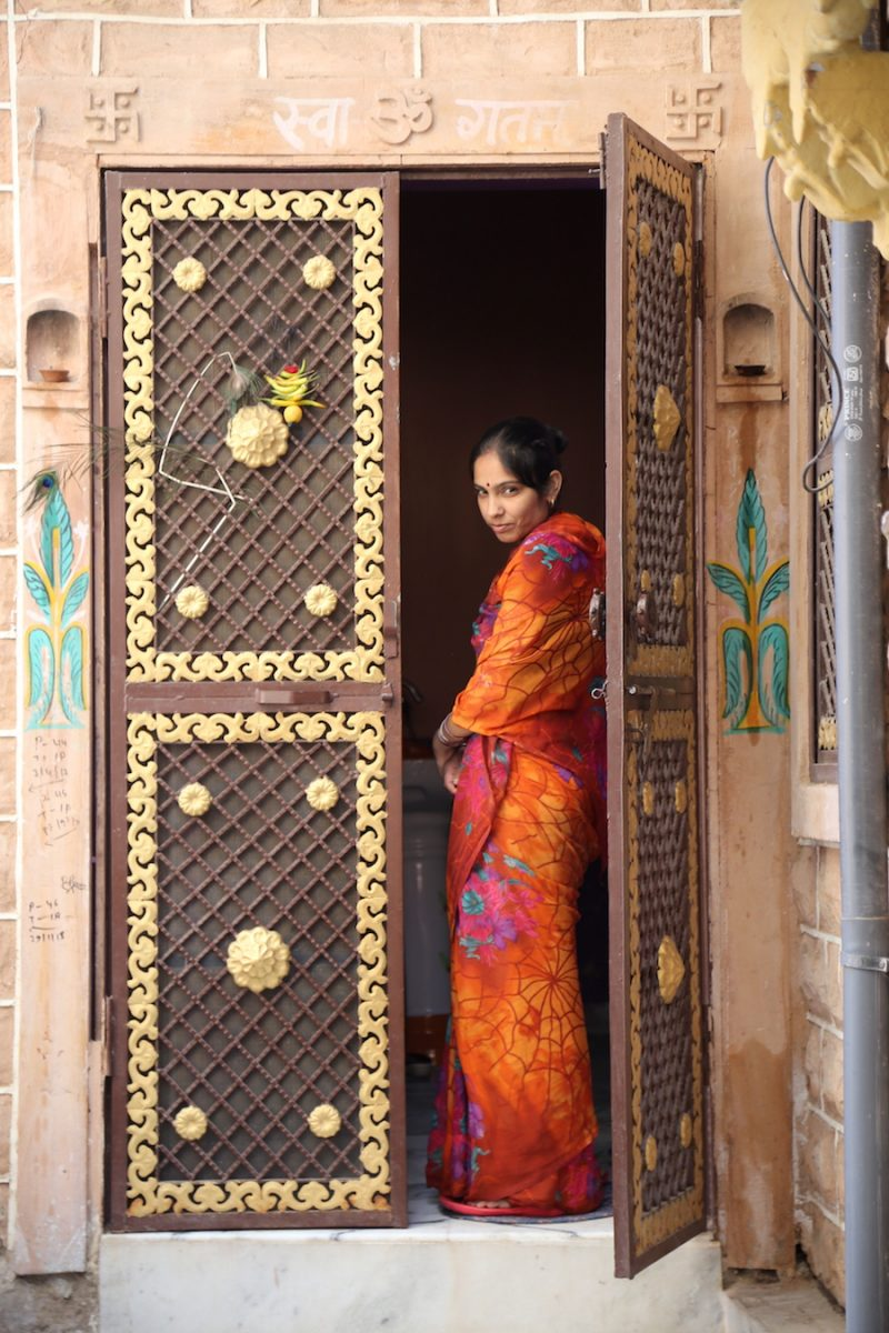 A local Jodhpur Woman: Palace on Wheels: What to Expect From Luxury Train Travel in India