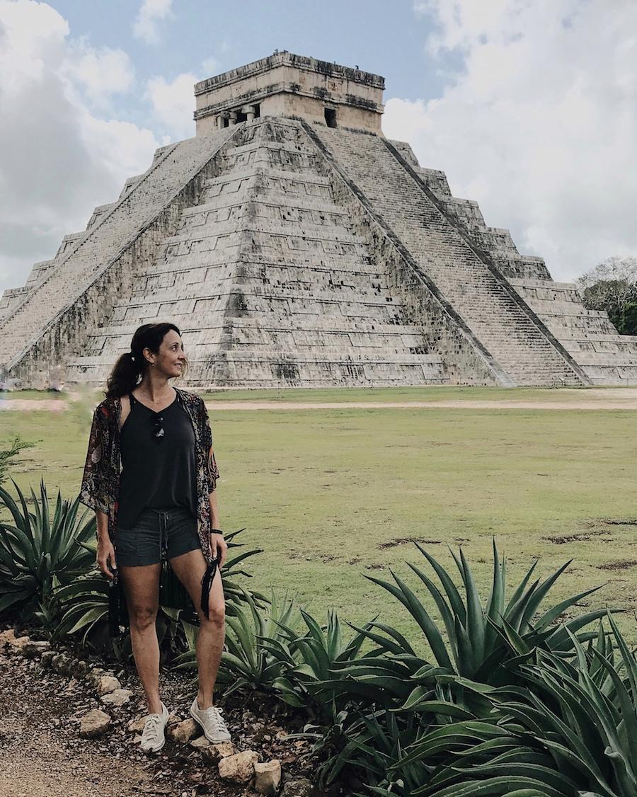Annette White at Chichen Itza, Mexico
