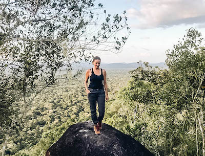Annette White wearing Comfy Womens Hiking Boot: Teva De La Vina Dos Alpine Boot