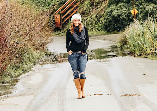 Annette White in Bodega California wearing riding boots