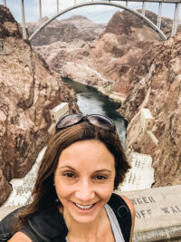 Annette White at Hoover Dam