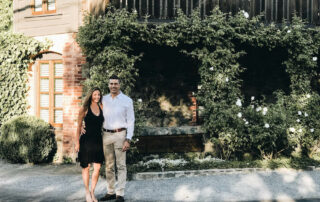 Annette and Peter in front of the French Laundry | Getting Reservations at The French Laundry & What to Expect After