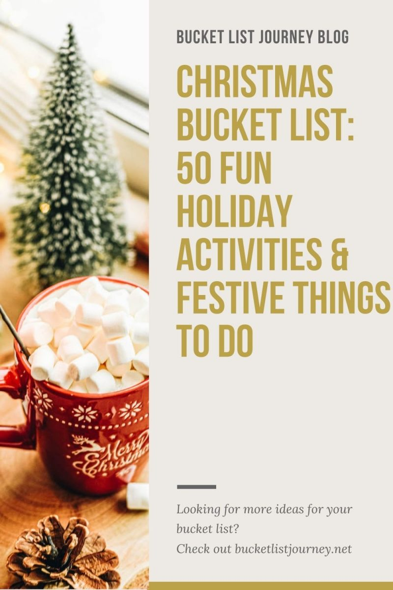 Christmas Bucket List: Fun Holiday Activities, Christmassy Ideas & Festive Things to Do