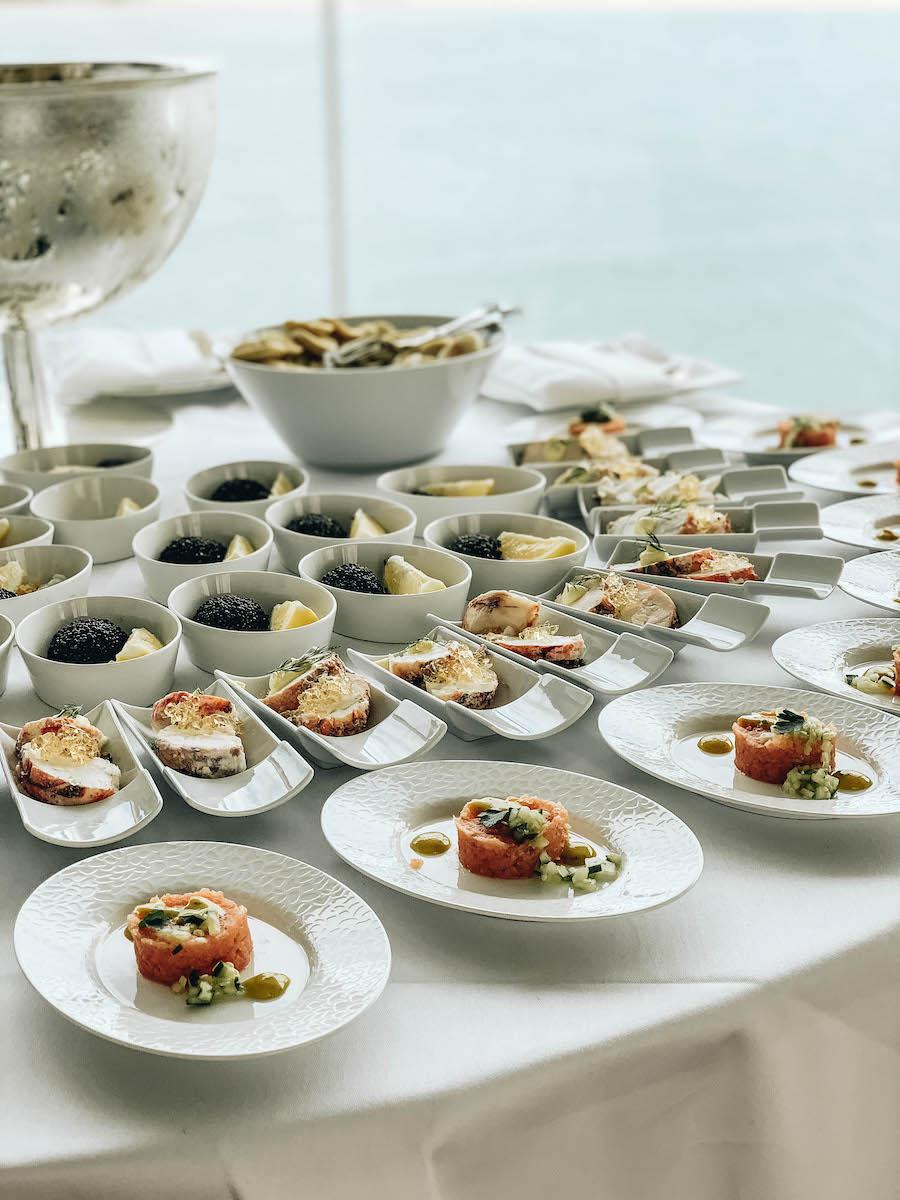 Caviar at the Artisan Food Market on the Hanseatic Inspiration Ship
