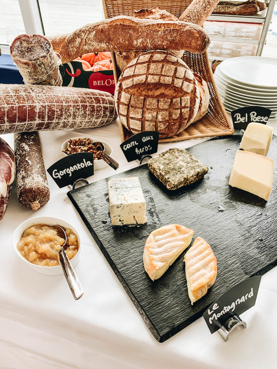 Cheese at the Artisan Food Market on the Hanseatic Inspiration Ship