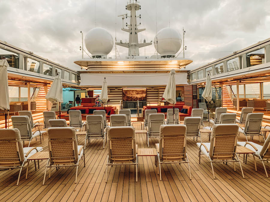Pool Deck on the Hanseatic Inspiration Cruise