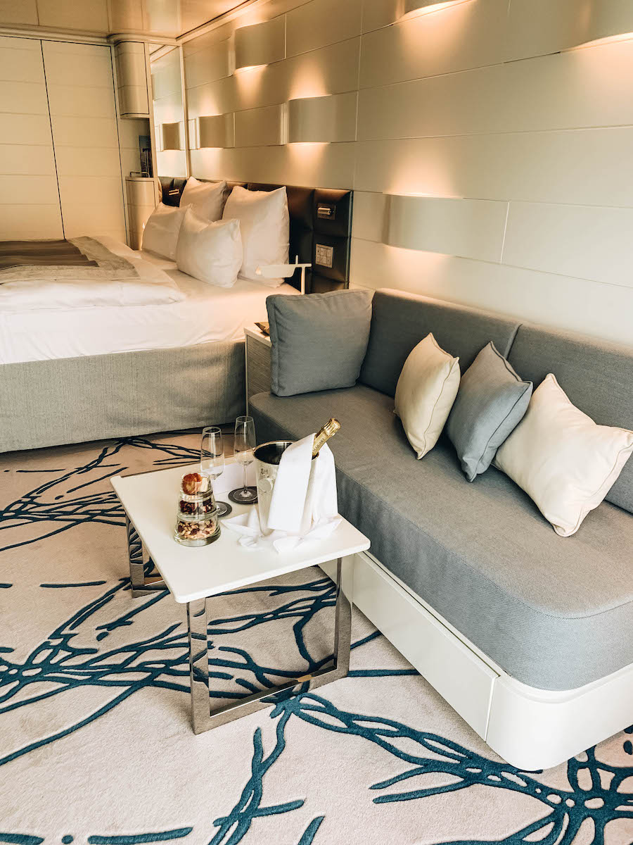 The room on the Hanseatic Inspiration Ship