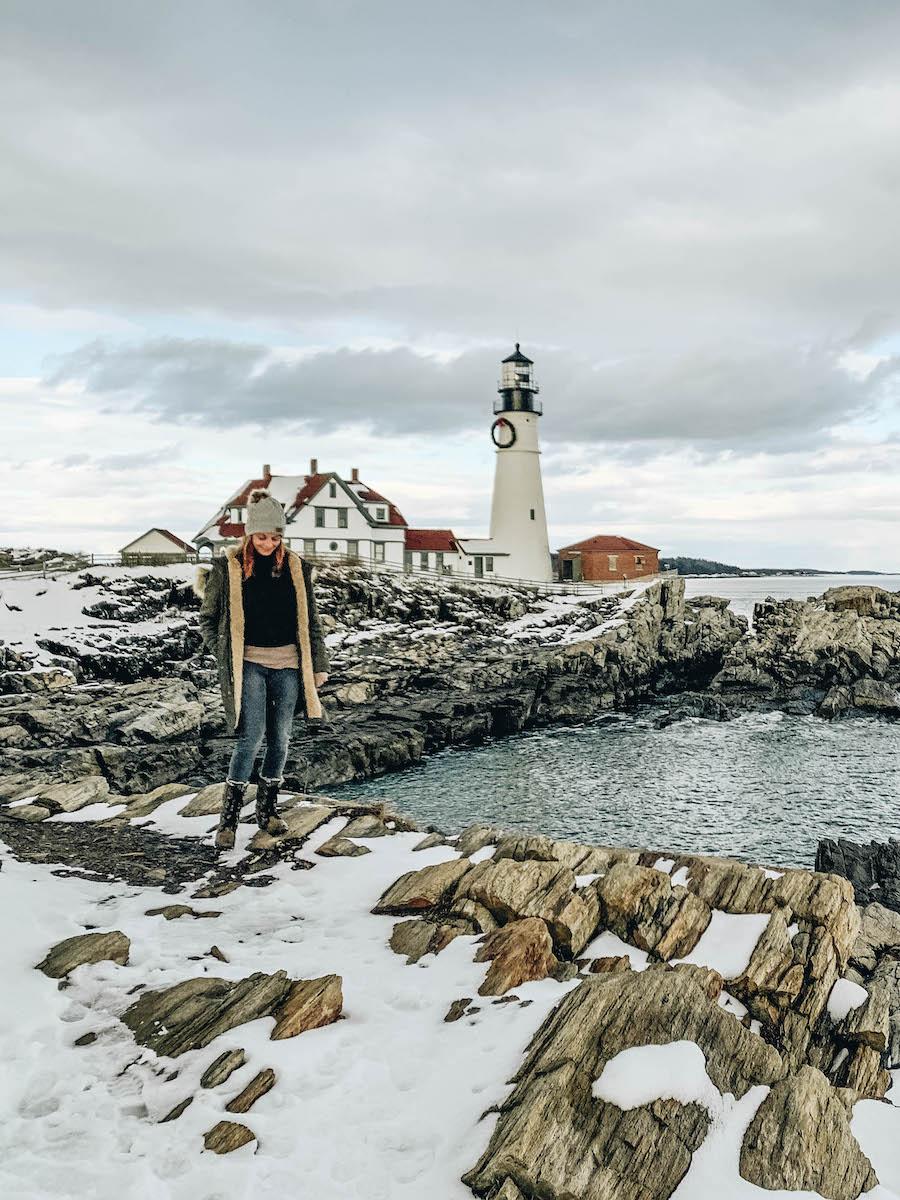 Portland Head Light: Winter Activities To Do in Portland Maine