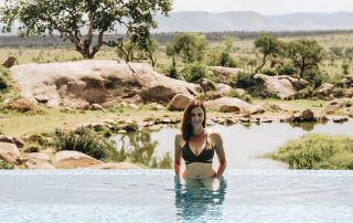 Annette White at the Four Seasons Safari Lodge in Serengeti National Park