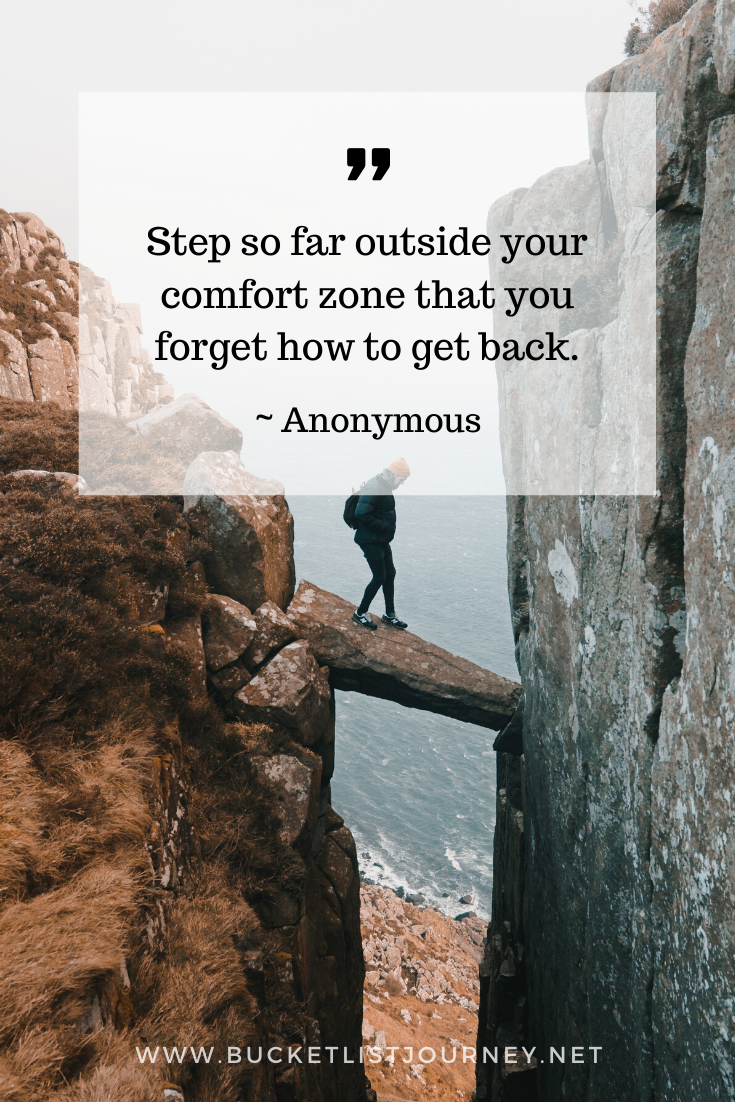 Quote by Anonymous | Quotes that Will Motivate You to Step Outside of Your Comfort Zone