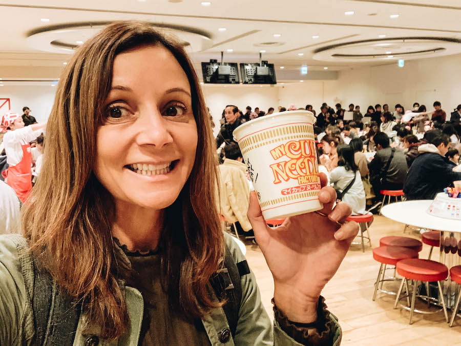 Annette White at CupNoodles Museum on a Day Trip from Tokyo