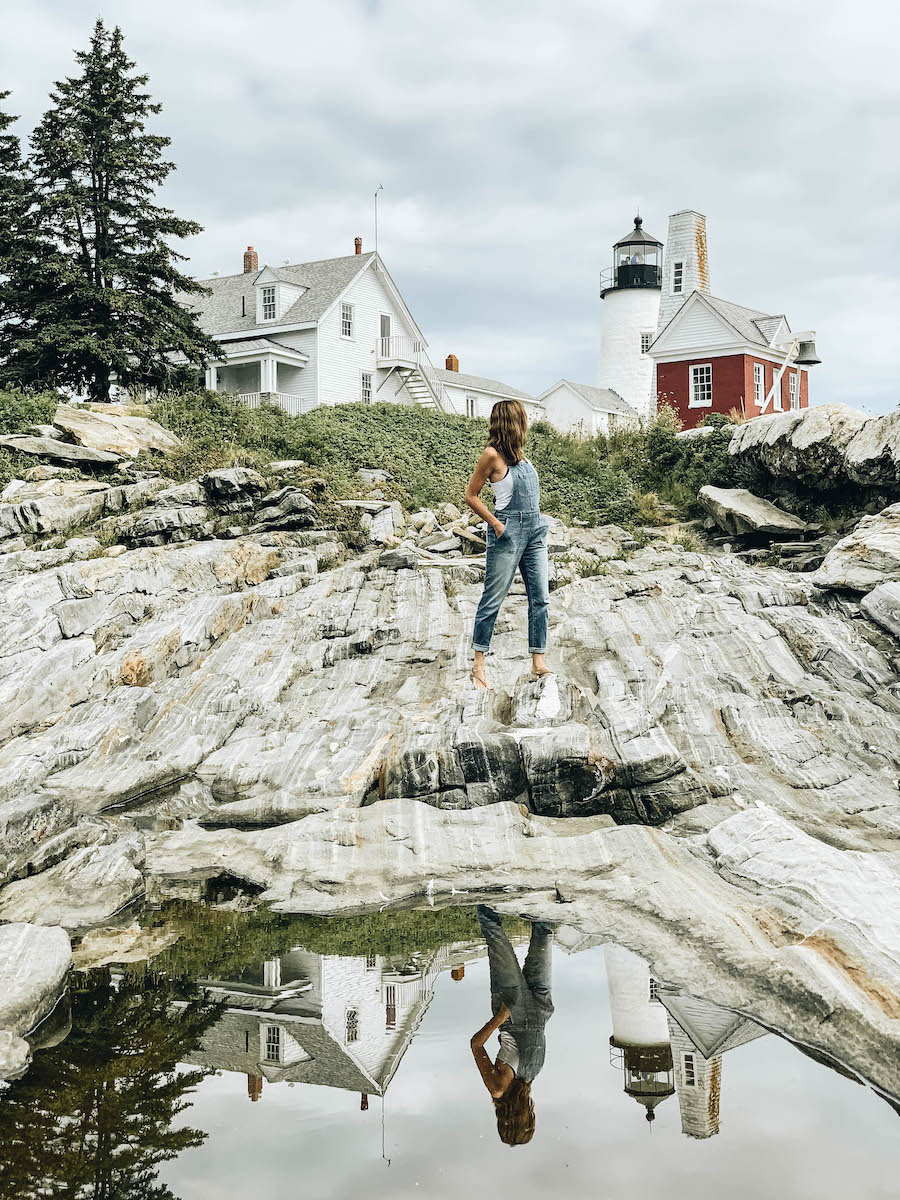 Annette White at Pemaquid Point Lighthouse in Midcoast Maine