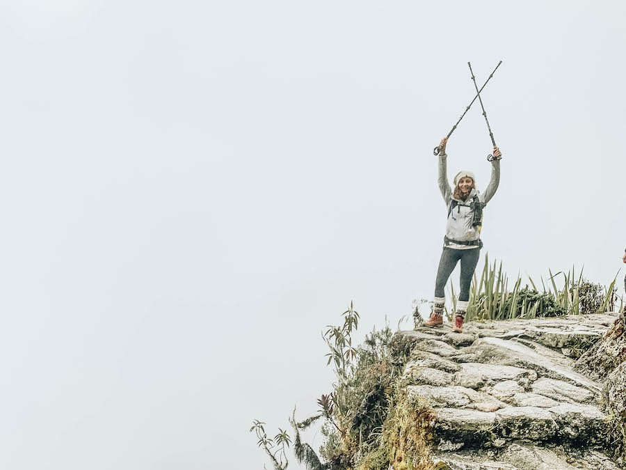 Annette White hiking the Inca Trail
