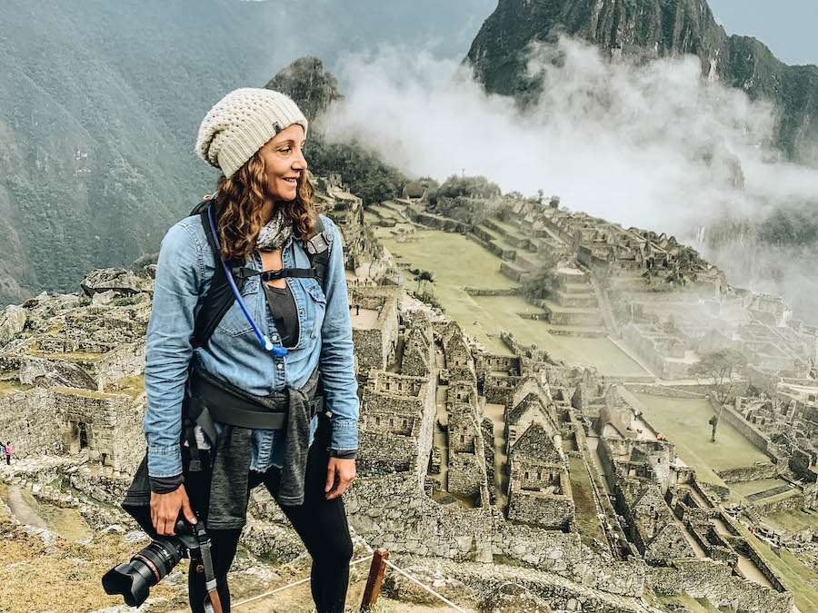 Annette White at Machu Picchu