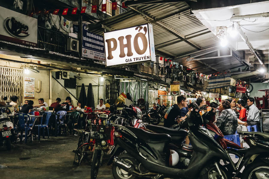 Eating Pho Street Food in Ho Chi Minh City
