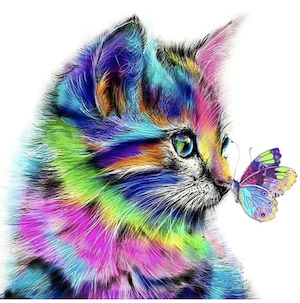 Cat Paint by Numbers