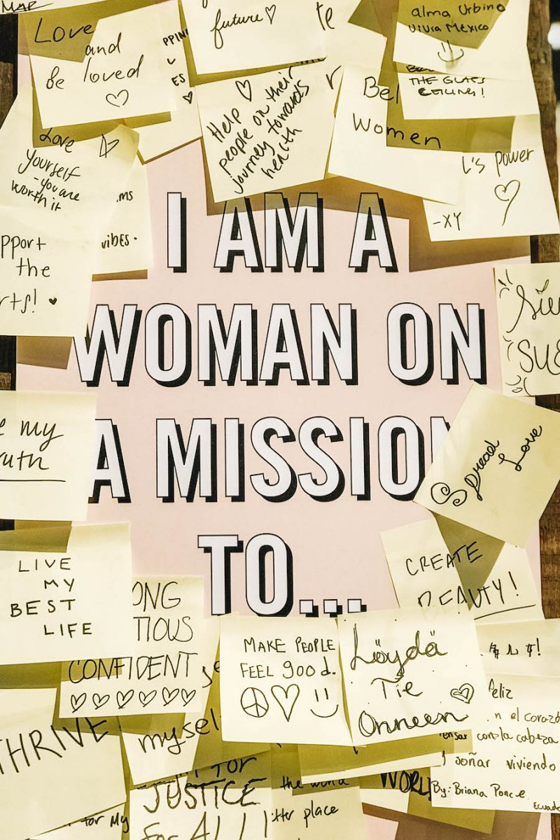 I am a woman on a mission goals post it notes