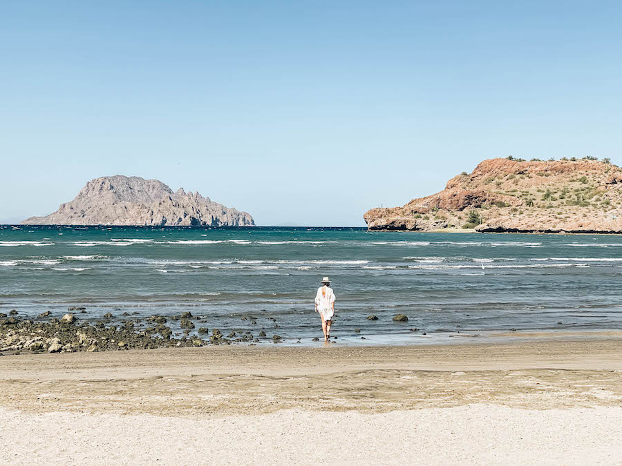 The hotel beach in Loreto