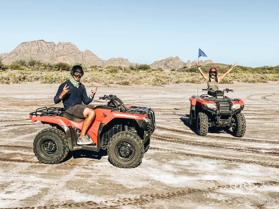 ATV ride on the beaches of Loreto Mexico