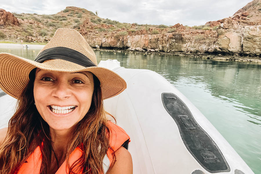 Annette White on the Loreto Islands Tour