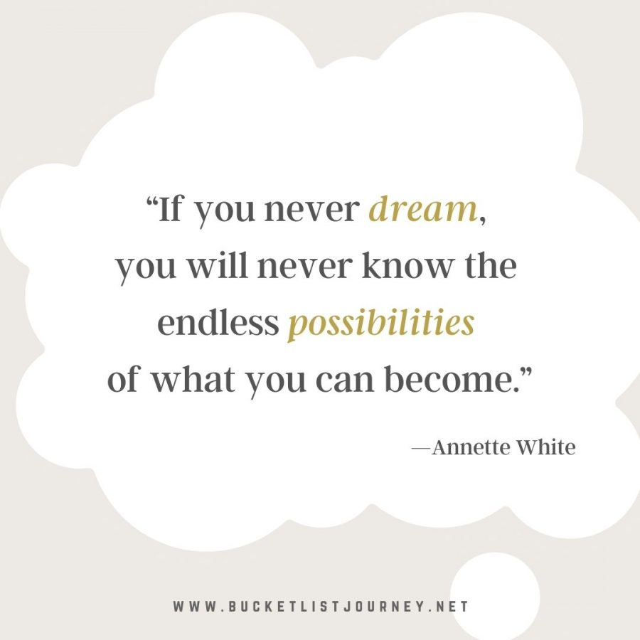 """""""If you never dream, you will never know the endless possibilities of what you can become."""" —Annette White Quote"""