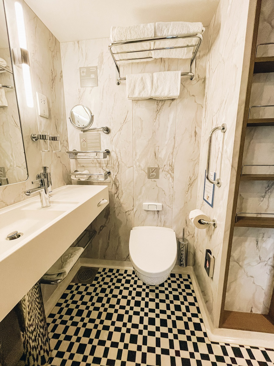 Toilet inside the Cabins Premium Balcony Costa Smeralda Cruise Ship