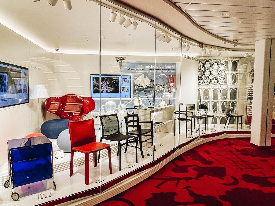The code museum onboard Costa Smeralda Cruise Ship