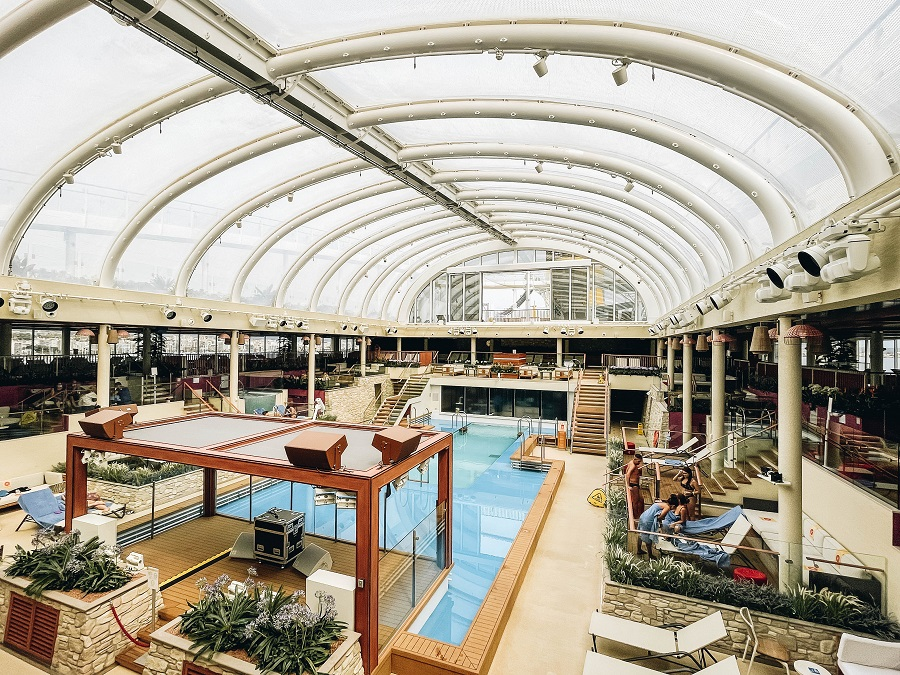 Pools Slide on Costa Smeralda Cruise Ship