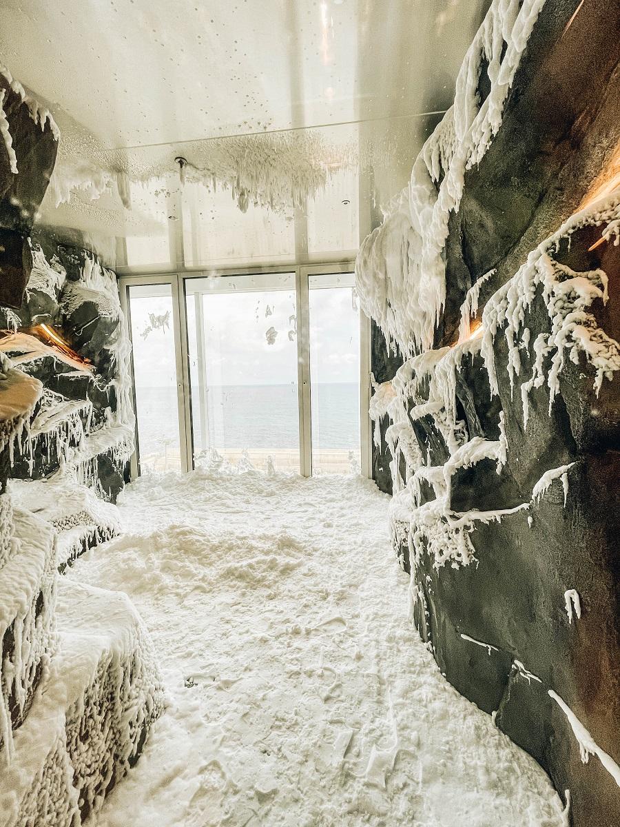 Spa with snow inside Costa Smeralda Cruise Ship
