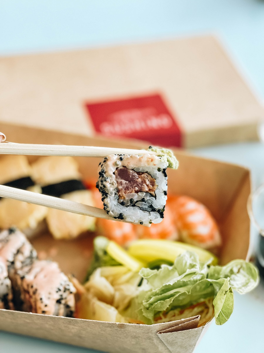 Fresh sushi on Costa Smeralda Cruise Ship