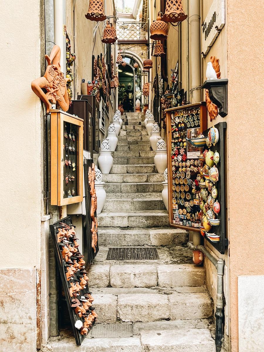 Taormina Sicily city view
